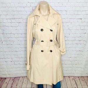 STEVE MADDEN  Tan Belted Above Knee Trench Coat XL